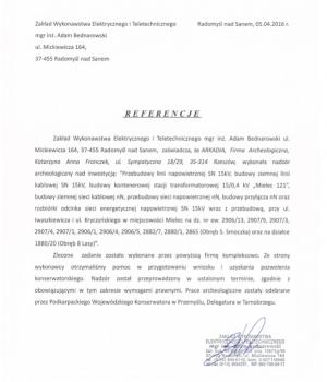 Zakład Wykonawstwa Elektrycznego i Teletechnicznego mgr inż. Adam Bednarowski