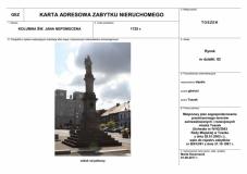 Toszek - kolumna św. Jana Nepomucena