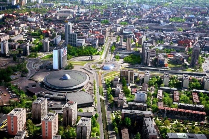 Widok na centrum Katowic