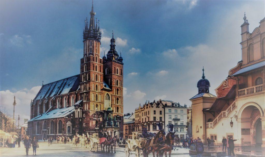 Rysunek krakowskiego rynku