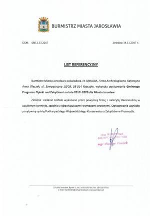 Jarosław - referencje