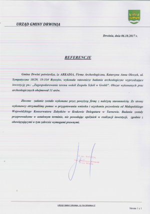 Referencje - Urząd Gminy Drwinia